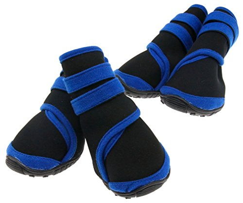 two-pairs-waterproof-pet-dog-shoes-protective-rain-boots-black-l