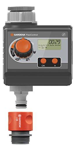 Gardena 1883-20 Bewässerungscomputer FlexControl; Wassersparender Betrieb; Einfache Dateneingabe (Betriebsdruck 0,5 - 12 bar; 3 Bewässerungszyklen p.D.; Bewässerungsdauer 1 min - 1 h 59 min )