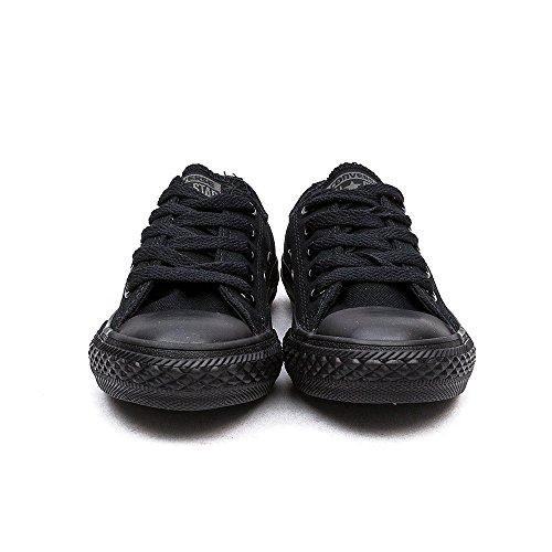 Converse Ctas Season Ox, Baskets mode mixte enfant Noir(Black Monochrome)