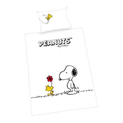 'Herding 2689025063lenzuola Peanuts, federa, 40x 60cm e copripiumino, 100x 135cm, in cotone di flanella
