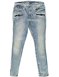 43188c227e82 G-Star Damen Jeans Hose Röhrenjeans Röhre Jeanshose Davin Zip High Super  Skinny Blau