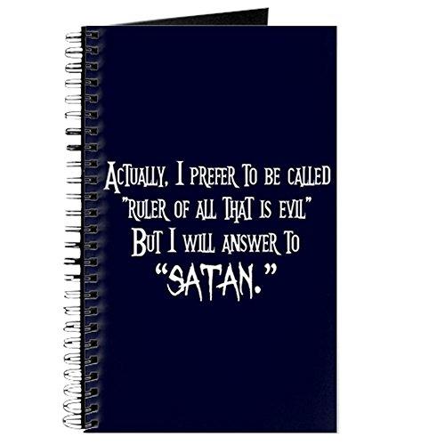 CafePress - Evil Satan - Spiralgebundenes Tagebuch, persönliches Tagebuch, liniert