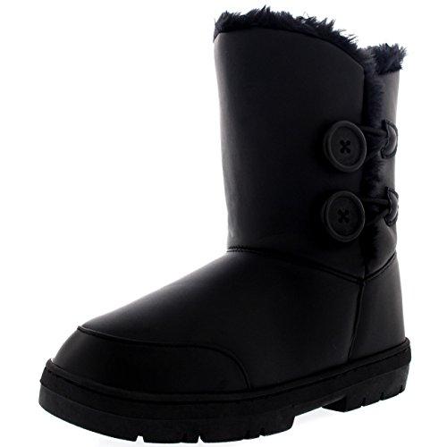 Femmes 2 Touche Classique Fourrure Doublée Chaleureux Chaussures Bottes - BLL41 - AEA0271