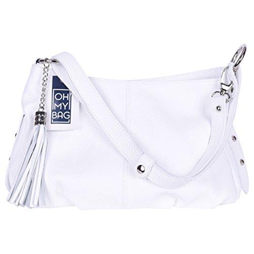 4e514a6a51 OH MY BAG Sac à Main femmes CUIR italien Sac porté épaule et bandoulère  Modèle LOBE Nouvelle collection SOLDES