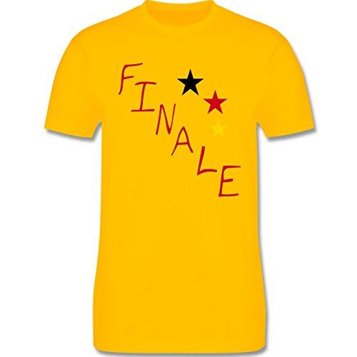 EM 2016 - Frankreich - Deutschland Finale - Herren Premium T-Shirt Gelb