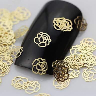 50pcs Rose Form Scheibe Metall Nail Art Dekoration -