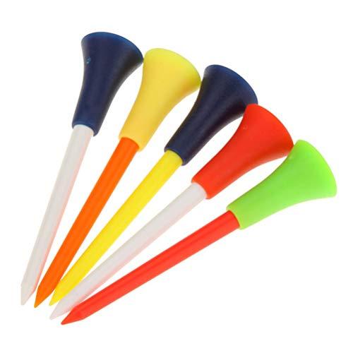 Toyvian 50pcs Plastique Tee de Golf Ensemble, Balle de Golf...