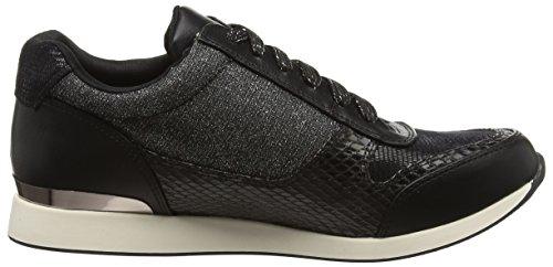 La Strada Black Snake Leather Look Sneaker, Baskets Basses femme Noir - Schwarz (1501 - snake black)