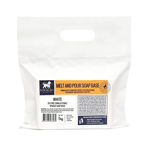 Base Jabón de glicerina Blanco sin SLS, 1 kg