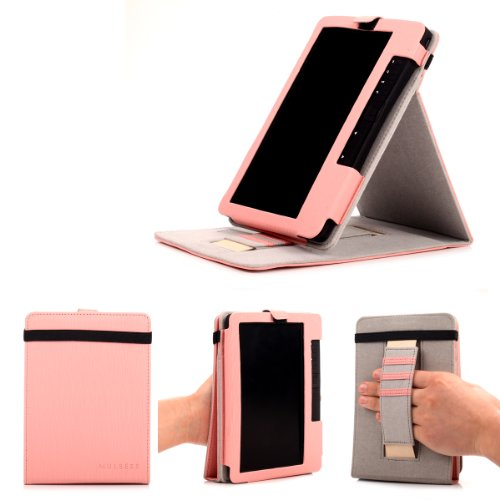 Trekstor eBook eReader 3.0 Hülle Case - Mulbess Ledertasche im Smart Cover Standfunktion für eBook eReader Trekstor eBook eReader 3.0 Tasche Etui Leder,Rosa