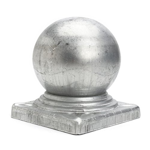 RanDal 100 Mm Eisernen Kugeln Top Fence Finial Post Cap Mit Flat Square Base Decor Protection -