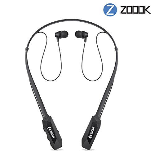 Zoook Jazz Claws Bluetooth Neckband Headphones with Mic (Black)