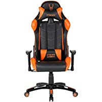 Woxter Stinger Station Orange -Silla Gaming (Eje Acero,Sistema de Levantamiento (Gas