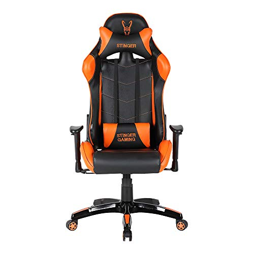 Woxter Stinger Station Orange -Silla gaming (Eje acero,Sistema de levantamiento (gas pistón...