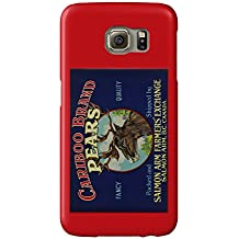 Cariboo Pear Label (Galaxy S6 Cell Phone Case, Slim Barely There)