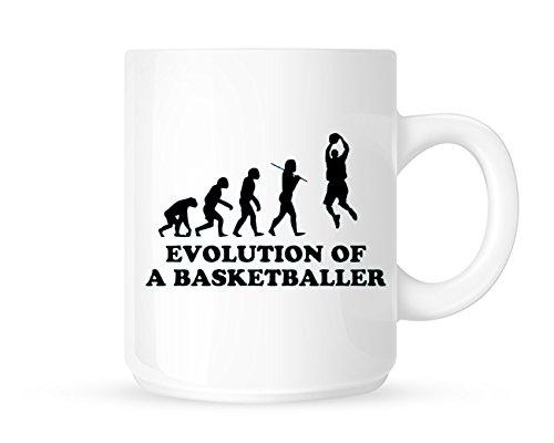 Evolution of a Basketballer-sportliche Tee/Kaffee Tasse/Cup-tolle Geschenkidee -