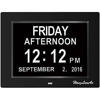 digitaler kalender tag uhr upgrade 8 zoll honglanao digital kalender uhr mit nicht. Black Bedroom Furniture Sets. Home Design Ideas