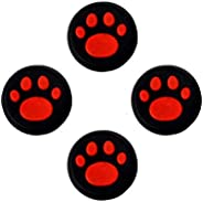 Electomania Replacement Cat Pad Style Silicone Analog Controller Joystick Thumb Stick Grip Cap Cover Compatibl