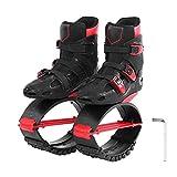 VGEBY1 Jumping Shoes, Unisex Fitness Hochfeste Slimming Body Shaping Schuhe mit Schraubendreher Sportschuhe Zubehör(36-38-Schwarz+Rot)