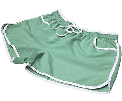 A-Express Damen Mädchen Sommer Running Training Gym Sport Fitness Hot Hose Beach Shorts Gr. 50, grün