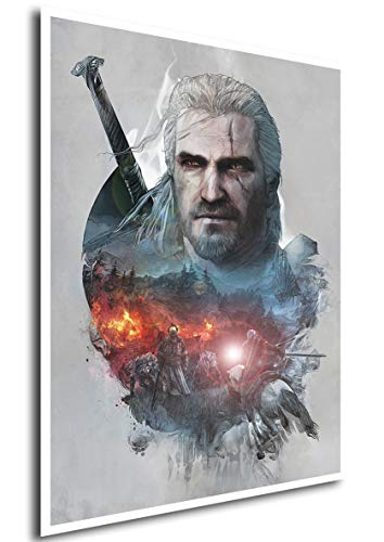 Poster The Witcher III (Q) - Geralt - A3 (42x30 cm)