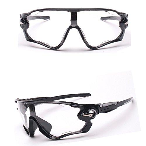 Fahrradbrille Uvex Unisex, Weant Sportbrille Klar Sonnenbrillen Männer Schutzbrillen Sonnenbrille Für Herren Damen Radsport Brille UV400 Objektiv Für Reiten Fahren Angeln Laufen Anti-UV Skibrille (Transparent)