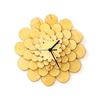 Flower - Unique Stylish Wooden Wall Clock, a Wall Art