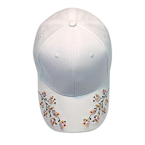 Btruely Baseball Cap Unisex Snapback Kappe Einstellbar Basecap Sommer Kappe Mesh Hüte Super Hip Hop Cap Sommer Embroidery Sonnenhut Sport Mütze Eben Kappe (Weiß) (Weiß Ebene)