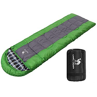 CAMEL CROWN Sleeping Bag Lightweight Warm Envelope Sleeping Bags With Compression Sack For Kids Adults 3 Seasons Outdoor Travel Camping by CAMEL CROWN