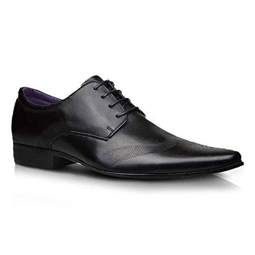 Alla moda, da uomo nuovo in pelle nera scarpe formali abito elegante taglia uk 6 7 8 9 10 11 - nero, uomo, 8 uk / 42 eu