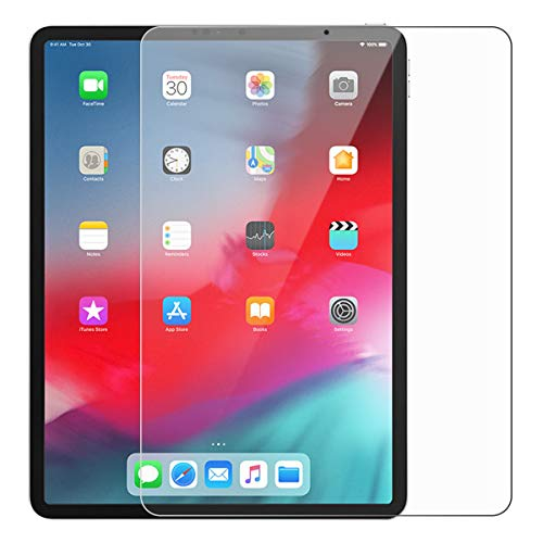 iPad Pro 12.9 Inch Screen Protector, Tempered Glass Film, Ultra-Clear HD Protect Glass with Premium Anti-Scratch Anti-Smudge Fingerprint Resistant & Shatterproof Case Friendly Glass Screen Protector Anti-smudge Screen Protector