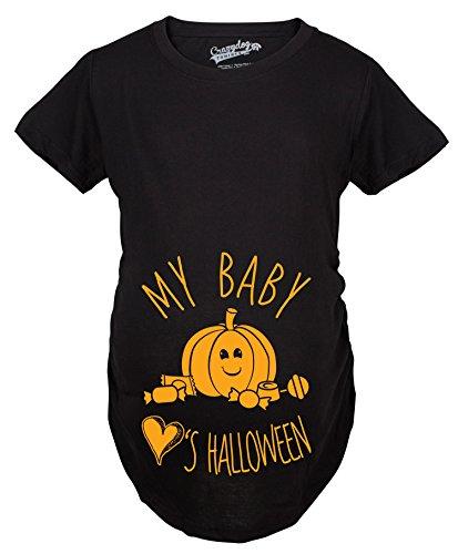 0f95d1668 Crazy Dog T-Shirts Maternity My Baby Loves Halloween Cute Pumpkin Pregnancy  Halloween Tshirt (