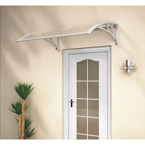 White Door Canopy Opaque Corrugated Awning Shelter Roof Front Back Porch Outdoor Shade Patio … Test