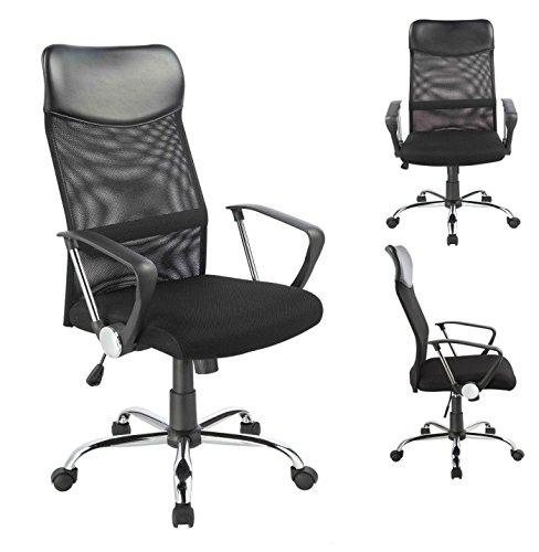 Bürostuhl Chefsessel Ergonomisch Netzstoff Wippfunktion in Schwarz Duhome 0341 Schreibtischstuhl Office Chair Drehstuhl Gaming Stuhl Buerostuhl - Duhome