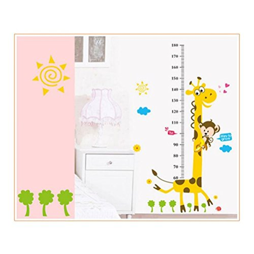 Decorie Lovely DIY Cartoon Giraffe Wall Stikers for Kids Kindergarten Homer Decor 180x88cm