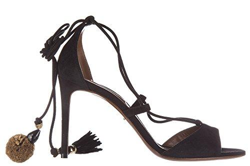 Noir Sandales Gabbana En À Amp; Dolce Femme Talon Daim E0vqz 1cuTJKl3F