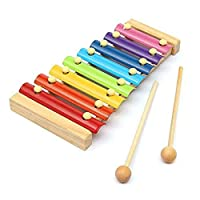 Piano Wooden Instrument For Children 8 Notes Xylophone Kids Toys