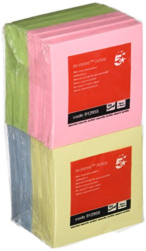 5-star-re-move-notes-repositionable-pastel-pad-of-100-sheets-75x75mm-assorted-ref-pack-of-12