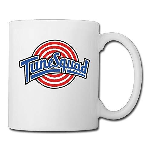 jingqi Cool Space Jam Tune Squad Ceramic Coffee Mug, Tea Cup   Best Gift for Men, Women and Kids - 11 Oz, White (Kids Jam 11 Space)