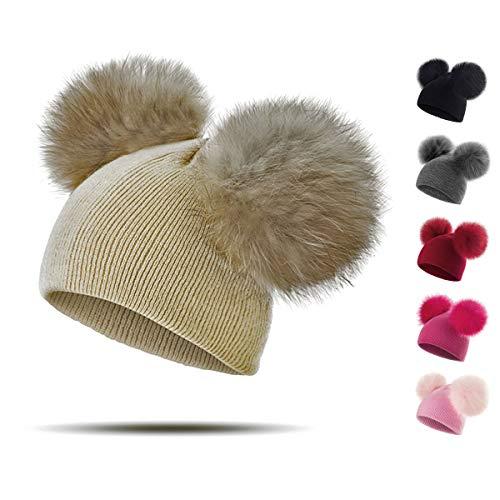 Cálida bola de Set de bufanda pelo linda de invierno desmontable multifunción gorro y guantes - para niña