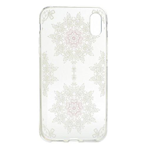 Custodia per iPhone X Cover , YIGA amare uccelli Trasparente Silicone Morbido TPU Shell Caso Protezione Case per Apple iPhone X (5,8 pollici) XX30