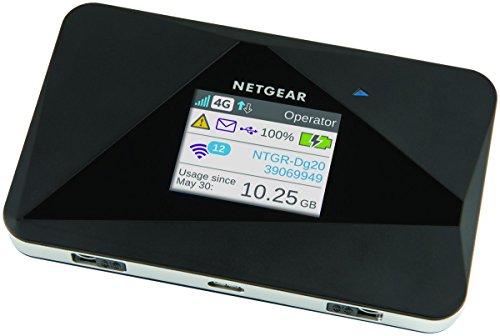 dual sim lte router Netgear AC785-100EUS Aircard Mobiler Hotspot Router (4G LTE, mit bis zu 150 Mbit und Cat 4 LTE / 4G, ohne SIM-Lock) schwarz