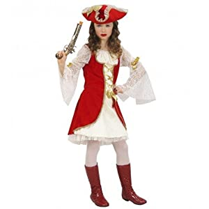 WIDMANN wdm58796?Disfraz para niños (Capitán Pirata 128cm/5?7años), color blanco, XXS