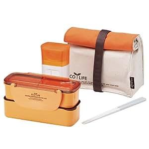 Lock & Lock Brotzeitbox Slim Lunch Box Bento w/Bottle Set - HPL740R1, Orange