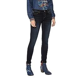 Desigual Second Skin Jeans Ajustados Azul Black Denim 5009 W30 para Mujer