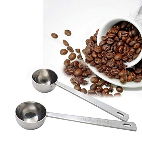 1PCS Coffee Scoop Stainless Steel Table Spoon Seasoning Spoon Milk Powder Spoons Multifunction Kitchen Supplies Coffee Scoops Heavy Duty Stainless Steel Spoon