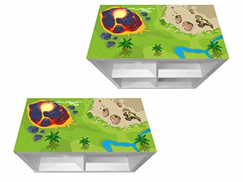 Stikkipix Dinosaurios Cascarillo para muebles | KSWK07 | Adhesivos adecuados para el estante KALLAX de IKEA (mueble no incluido)
