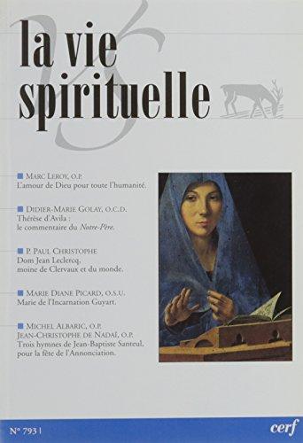 La Vie Spirituelle Vs793 par Collectif