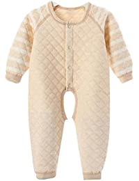 Highdas bebé recién nacido otoño invierno caliente Romper manga larga mono