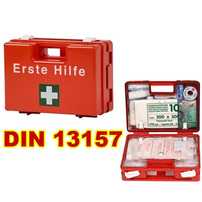 Erste Hilfe Koffer - Kasten - First Aid Box - Verbandkoffer - Verbandkasten DIN 13157 : 2009